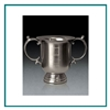 Brushed Pewter Medium Manchester Trophy Cup with Sand Etched, Golf Brushed Pewter, Pewter Golf Trophies