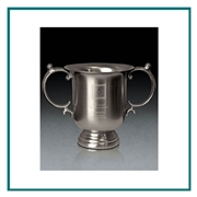 Brushed Pewter Medium Manchester Trophy Cup Sand Etched