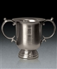 Brushed Pewter Large Manchester Trophy Cup with Sand Etched, Golf Brushed Pewter, Pewter Golf Trophies