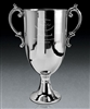 Brushed Pewter Medium Bedford Cup Award with Sand Etched, Golf Brushed Pewter, Pewter Golf Trophies
