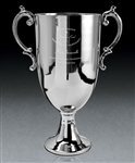 Brushed Pewter Large Bedford Cup Award with Sand Etched, Golf Brushed Pewter, Pewter Golf Trophies