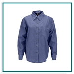Vantage Women's Woodbridge Denim Shirt with Custom Embroidery, Vantage Custom Denim Shirts, Vantage Custom Logo Gear