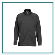 Vantage Women's Brushed Back Micro-Fleece Full-Zip Jacket with Custom Embroidery