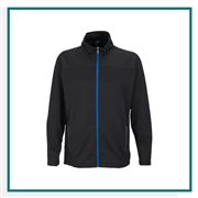 Vantage Men's Brushed Back Micro-Fleece Full-Zip Jacket with Custom Embroidery