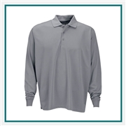 Vansport Men's Omega Long Sleeve Solid Mesh Tech Polo with Custom Embroidery, Vansport Custom Polos, Vansport Custom Logo Gear