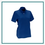 Vansport Women's Omega Ruched Polo with Custom Embroidery, Vansport Custom Polos, Vansport Custom Logo Gear