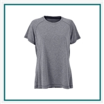 Vansport Women's Melange Tech Tee with Custom Embroidery
