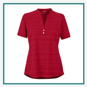 Vansport Women's Strata Textured Henley with Custom Embroidery
