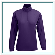 Vansport Women's Mesh 1/4-Zip Tech Pullover with Custom Embroidery, Vansport 3406 Custom Embroidered, Custom Embroidered Vansport Pullovers, Vansport Custom Apparel