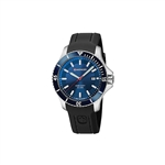 Wenger Large Blue Dial Black Silicone Strap 01.0641.119 with Custom Laser Engraving/Pad Print, Wenger Custom Watches, Wenger Corporate Watches