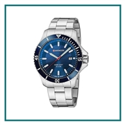 Wenger Large Blue Dial Stainless Steel Bracelet 01.0641.120 with Custom Laser Engraving/Pad Print, Wenger Custom Watches, Wenger Corporate Logo Gear