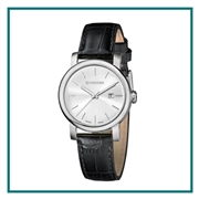 Wenger Silver Dial Leather Strap Watches Custom