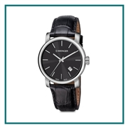 Wenger Black Dial Leather Strap Watches Engraved
