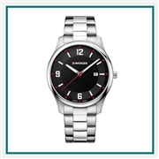 Wenger Large Dial Stainless Engraved Watches