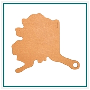 Epicurean Alaska State Shaped Cutting Board - Natural 032-AK0102 with Custom Laser Engraving, Epicurean Custom Cutting Boards, Epicurean Corporate Logo Kitchen Gear