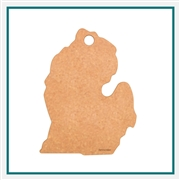 "Epicurean Michigan State Shaped Cutting Board 13 x 10.75""- Natural 032-MI0102 with Custom Laser Engraving"