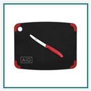 "Victorinox 14.5"" x 11.25"" Non-Slip Series Combo Set Slate/Red Colored Corners 202-15110201C Custom Engraving"