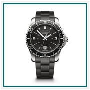 Victorinox Maverick Large Black Dial, Bezel & Genuine Rubber Strap 241698 with Custom Laser Engraving/Digital Print, Victorinox Custom Watches, Victorinox Corporate Logo Gear