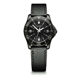 Victorinox Maverick Black Edition Small Black Dial & Leather Strap 241788 with Custom Laser Engraving/Digital Print, Victorinox Custom Watches, Victorinox Corporate Logo Gear