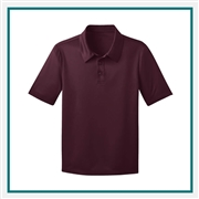 Port Authority Youth Silk Touch Performance Polo Y540 with Custom Embroidery, Custom Logo Port Authority Polos, Embroidered Port Authority Polos, Embroidered Port Authority, Port Authority Embroidery