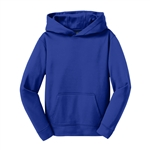 Sport Tek Youth Sport-Wick Fleece Hooded Pullover YST244 with Custom Embroidery, Sport Tek YST244 Custom Embroidered, Custom Embroidered Sport Tek Pullovers, Sport Tek Custom Apparel
