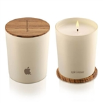 Customizable Candle with Bamboo Lid