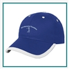 HitWear Price Buster Cap With Visor Trim With Custom Embroidery, Hitwear Promotional Caps, Hitwear Corporate Cheap Embroidered caps