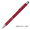 iWrite Chic Aluminum Pen with Touch Screen Stylus, Custom Stylus Pens, Printed Stylus Pens, Logo Stylus, Innovation Stylus Pen with Logo
