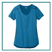 OGIO Ladies Orbit Henley Shirt with Custom Embroidery, OGIO Corporate Shirt, OGIO Custom Logo Gear