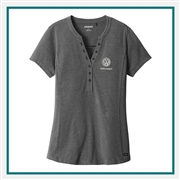 OGIO Ladies Tread Henley Shirt with Custom Embroidery, OGIO Corporate Shirts, OGIO Custom Shirts