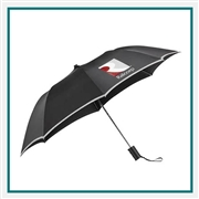 "StrombergBrand 42"" Auto Open Folding Safety Umbrella 2050-03 Custom Silkscreened"