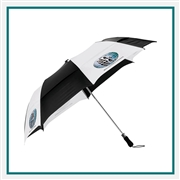 "StrombergBrand 58"" Vented Auto Open Folding Golf Umbrella 2050-06 Custom Silkscreen"