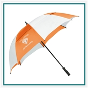 "StrombergBrand 62"" Course Vented Golf Umbrella 2050-09 Custom Silkscreened"