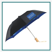 "StrombergBrand 46"" Blue Skies Auto Open Folding Umbrella Custom  printed"