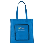 Poly Pro Non Woven Foldable Tote, Foldable Tote Bags, Compact Tote Bags, Custom Logo Tote Bags