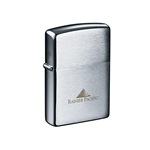 Zippo Brushed Chrome Lighter Custom Logo