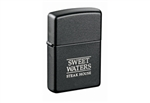Zippo Black Matte Custom Logo Lighter