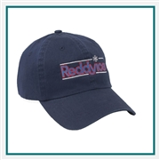 AHEAD The Newport Washed Cap Custom Embroidery