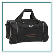 OGIO Hamblin 22 Wheeled Duffel Bag 413009 with Custom Embroidery, OGIO Promotional Duffel Bags, OGIO Branded Luggage