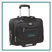 OGIO Lucin Wheeled Briefcase bag 417018 with Custom Embroidery, OGIO Branded Briefcase bags, OGIO Corporate & Group Sales