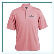Pebble Beach Horizontal Texture Polo with Custom Embroidery, Pebble Beach Custom Polos, Promo Polos