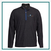 Pebble Beach M Marled Jersey 1/4 Zip Tech Pullover Custom Embroidery