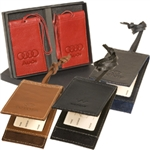 Barclay Magnetic Leather Luggage Tag Set