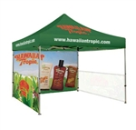 10 x 10 Custom Popup Tent with Side Skirts and Full Back Wall, 10 x 10 With Custom Printed Tradeshow Tent, Printed Popup Canopies No Minimum