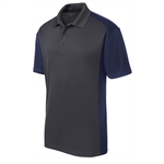 Sport-Tek Men's Colorblock Micropique Sport-Wick Polo ST652, Sport-Tek Promotional Polo Shirts, Sport-Tek Custom Logo