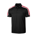 Sport-Tek Men's Tricolor Shoulder Micropique Sport-Wick Polo ST658 with Custom Embroidery, Sport-Tek ST658 Custom Embroidered, Sport-Tek ST658 Custom Logo, Promotional Sport-Tek Polo Shirts