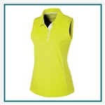 Sunice Ladies' Breanna Dreamskin Coollite Stretch Sleeveless Polo, Sunice Embroidered Golf Apparel, Sunice Corporate Apparel