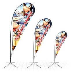 6 Ft Teardrop Shaped Banner Customized