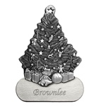 Christmas Tree with Engravable Skirt Pewter Ornament