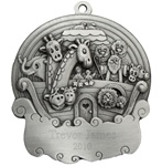 Noah's Ark Engravable Pewter Ornament